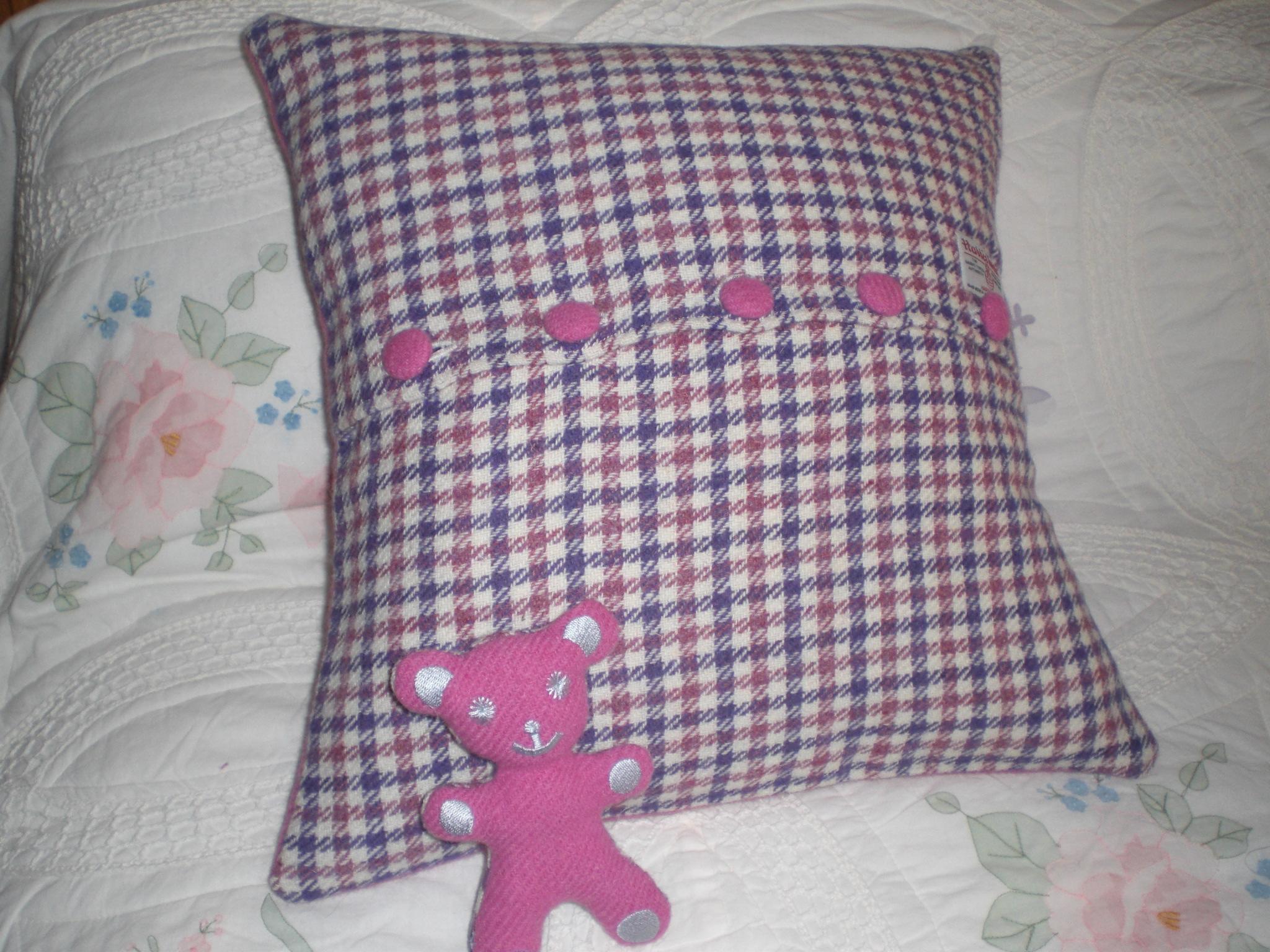 Moon Cushion with Teddy