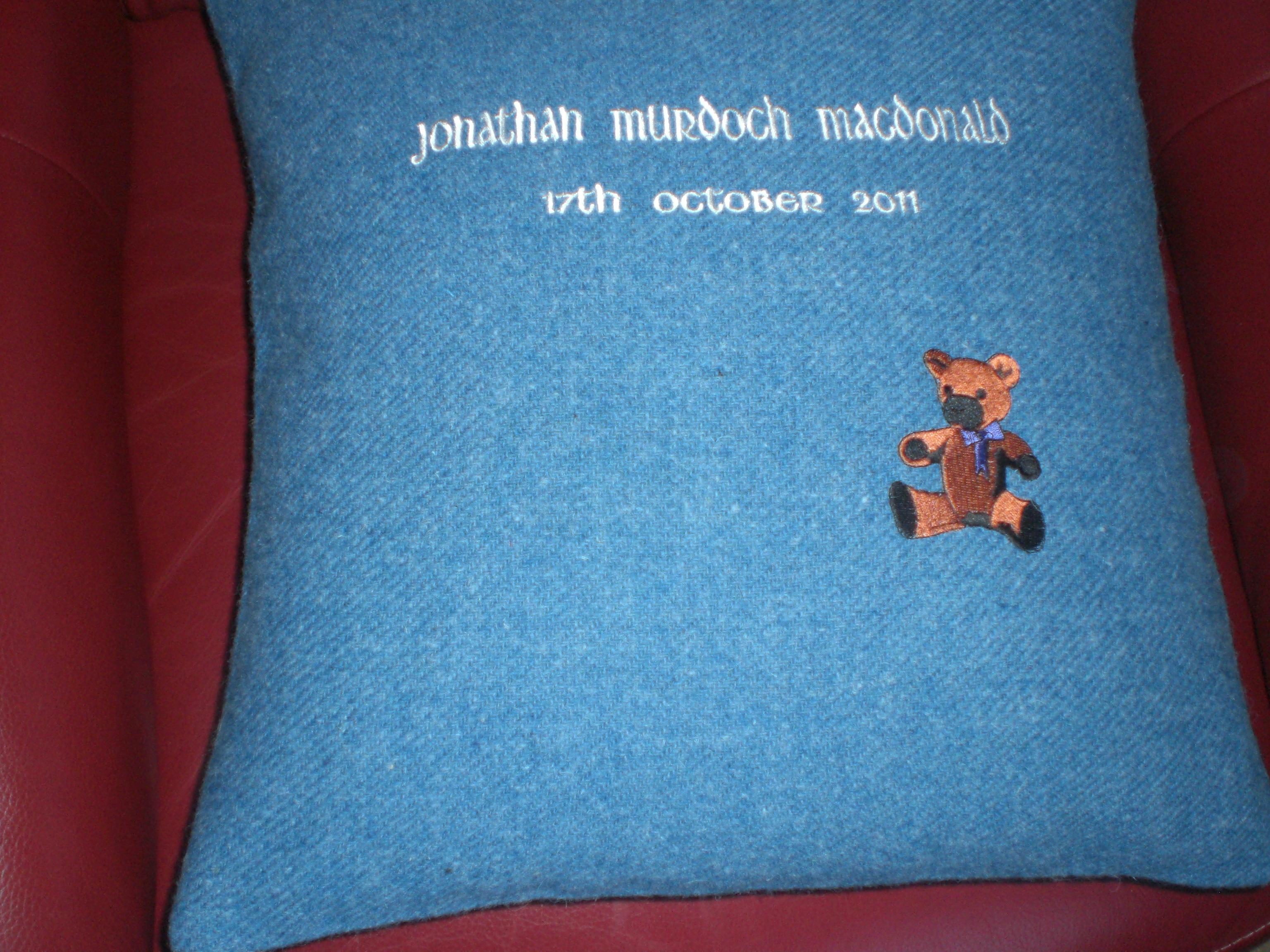Cushion with Bear